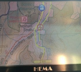HEMA Map of our campsite