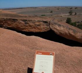 A-Tent on Mount Wudinna, South Australia