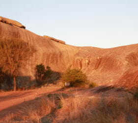 Wave rock formation at Pildappa Rock, Minnipa, South Australia