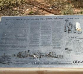 Plaque at site of old Bishop Kirkby Memorial Hospital, Cook