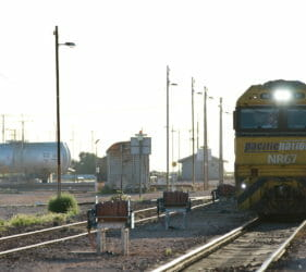 Pacific National NR67 arriving at Cook from the east