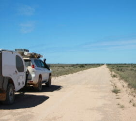 Heading south down Cook Road towards the Eyre Highway