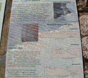 Information display at Murrawijinie Cave 1