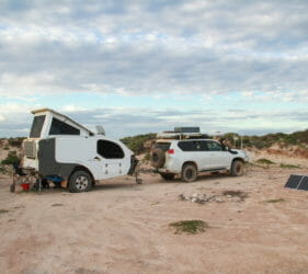 Our camp at In Between the Dunes