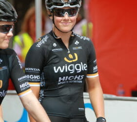 At the start line of Stage 1 of the Women's Tour Down Under at Gumeracha
