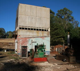 Last standing building and pumps after demolition at the Gumeracha Cold Stores