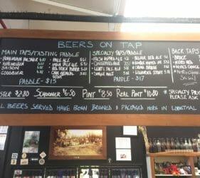 Beers on Tap at the Lobethal Bierhaus