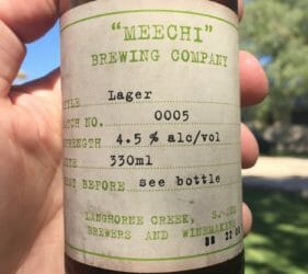 Lager - Batch 5 from Meechi Brewing