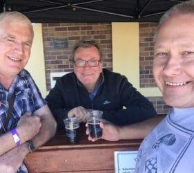 John, Alistair (Lobethal Bierhaus) and Vic at the Gumeracha Beer and Bite