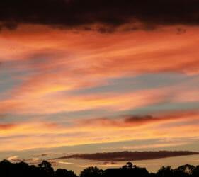 Spectacular sunset at Gumeracha